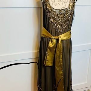 BEADED DRESS 1920'S VINTAGE LOOK